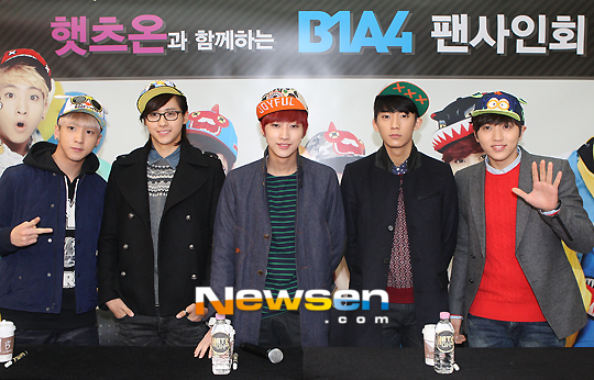 130120 B1A4 at Hats On fansign 01
