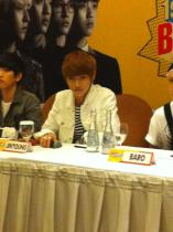130311 Press Conference- Jinyoung 01