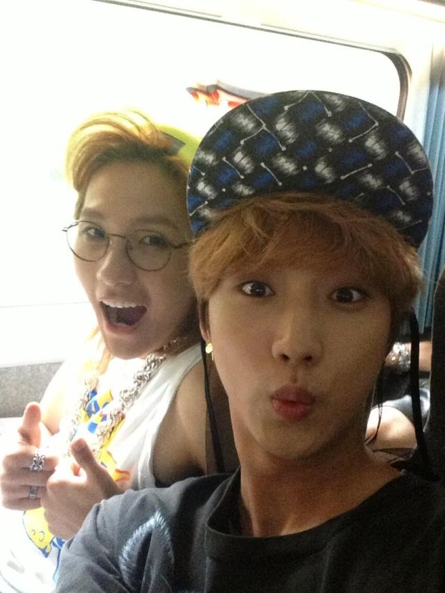 130608 CNU Twitter, with Jinyoung