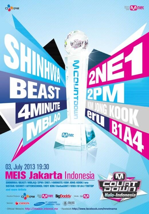 MNET M!Countdown Halo-Indonesia Poster