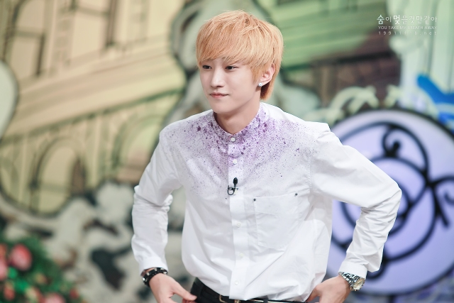 130804  KBS Hello Counselor - B1A4 Jinyoung (4)