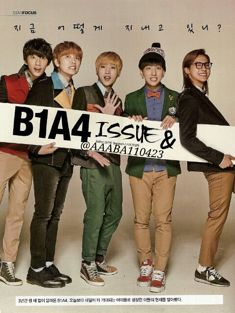 TENTEN Magazine - B1A4 Cut, December Issue (1)